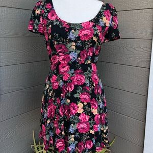 F21 Floral Sweetheart Dress